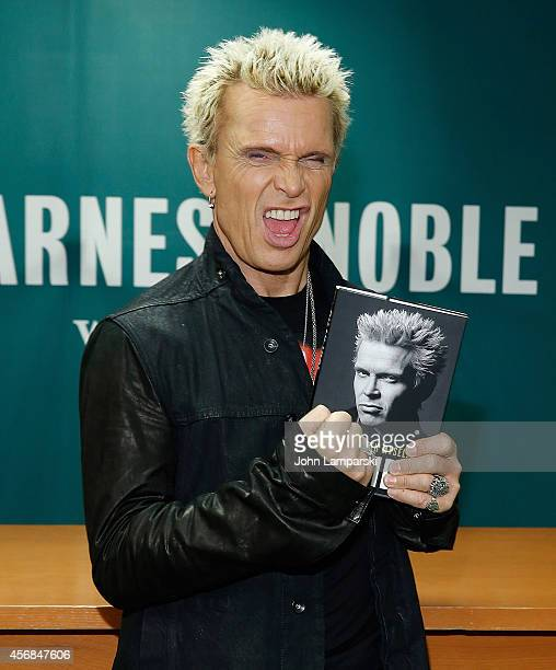 Billy Idol Signs Copies Of His Book Dancing With Myself at Barnes Noble 5th Avenue on October 8 2014 in New York City