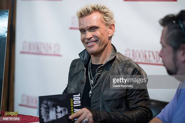 Billy Idol Signs Copies Of His Book 'Dancing With Myself' at Bookends Bookstore on October 6 2014 in Ridgewood New Jersey