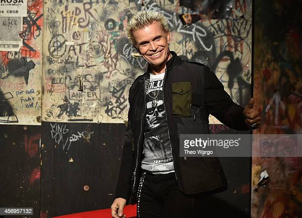 Billy Idol speaks onstage at CBGB Music & Film Festival 2014 HQ Kickoff event with Keynote Speaker Billy Idol on October 9, 2014 in New York City.