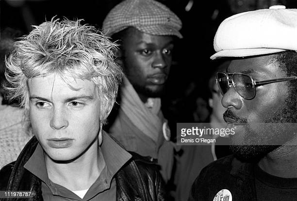 Billy Idol with Michael Riley of Steel Pulse at Dingwalls in London 1978