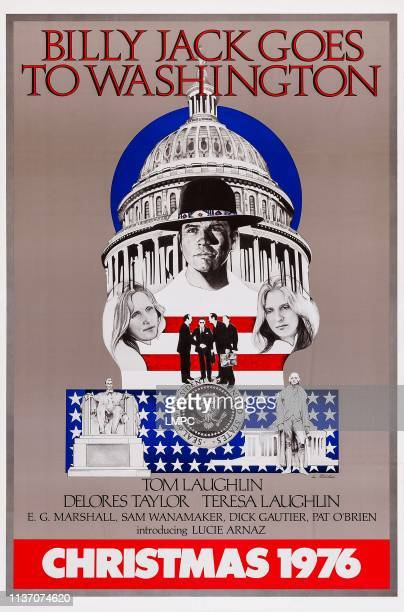 Billy Jack Goes To Washington poster clockwise from top Tom Laughlin Teresa Laughlin Delores Taylor on advance poster art 1977