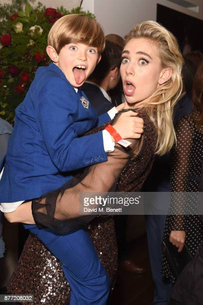 Billy Jenkins and Vanessa Kirby attend the World Premiere after party for season 2 of Netflix The Crown at Somerset House on November 21 2017 in...