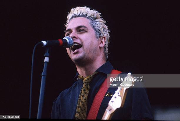 Billy Joe Armstrong of Green Day performs on stage at V Festival Chelmsford United Kingdom 1998