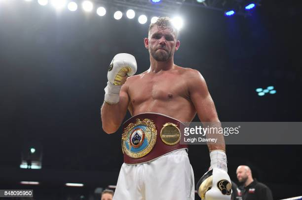 Billy Joe Saunders defeats Willie Munroe Jr for the WBO World Middleweight Title fight at Copper Box Arena on September 16 2017 in London England