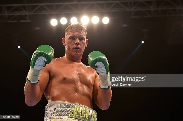 Billy Joe Saunders defeats Yoann Bloyer in a middleweight contest at Wembley Arena on July 24 2015 in London England