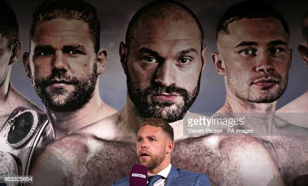Billy Joe Saunders during a press conference at the BT Tower London