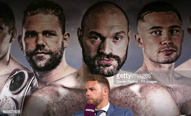 Billy Joe Saunders during a press conference at the BT Tower London PRESS ASSOCIATION Photo Picture date Tuesday May 1 2018 See PA story BOXING...