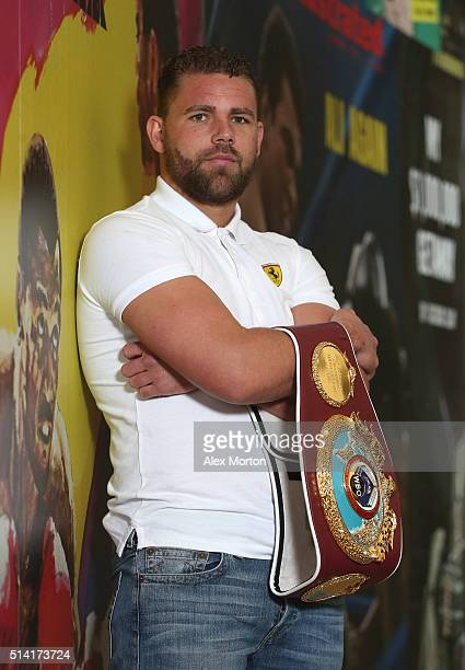 Billy Joe Saunders during the press conference at The O2 Arena on March 7 2016 in London England