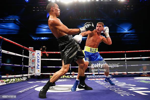 Billy Joe Saunders fights Chris Eubank Junior in the british european and commonwealth middleweight championships during Boxing at ExCel on November...