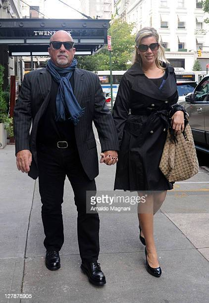 Billy Joel and Alexis Roderick appear in the city on October 2 2011 in New York City
