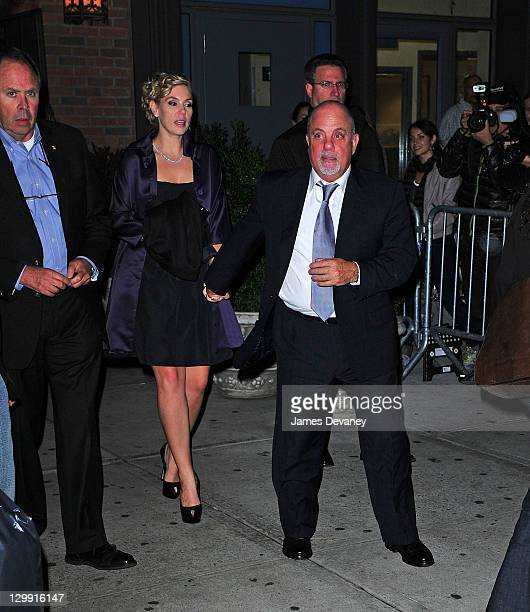Billy Joel and Alexis Roderick attend Paul McCartney's Nancy Shevell's party at The Bowery Hotel on October 21 2011 in New York City