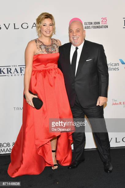 Billy Joel and Alexis Roderick attend the Elton John AIDS Foundation 25th Year And Honors Founder Sir Elton John During New York Fall Gala at...