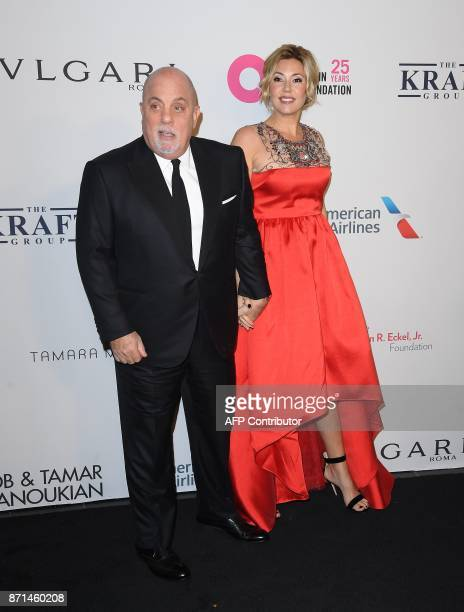 Billy Joel and Alexis Roderick Joel attend the Elton John AIDS Foundation Commemorates Its 25th Year And Honors Founder Sir Elton John During New...