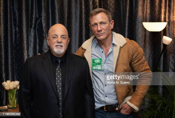 Billy Joel and Daniel Craig backstage at Joel's 68th Sold Out Show at Madison Square Garden on January 25 2020 in New York City