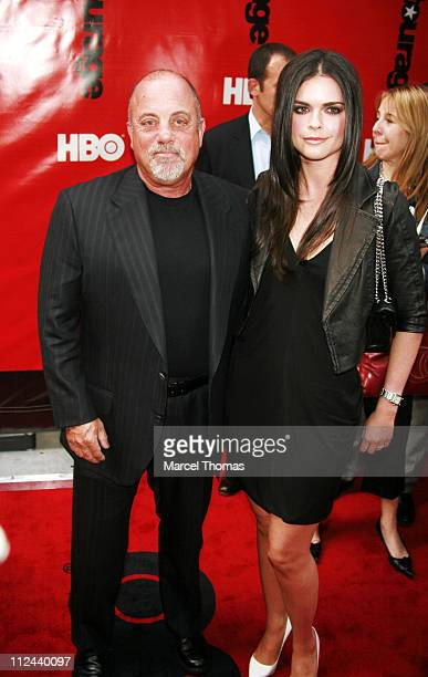 Billy Joel and Katie Lee Joel during 'Entourage' Season 4 Premiere at Zeigfeld Theatre in New York United States