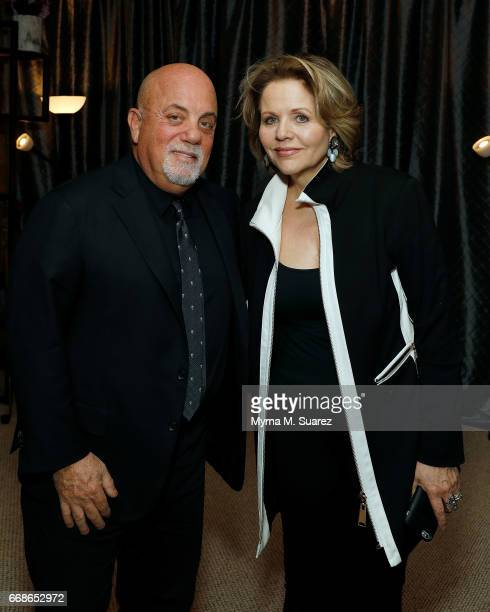 Billy Joel and Renee Fleming attend Billy Joel's 40th consecutive soldout show at Madison Square Garden on April 14 2017 in New York City