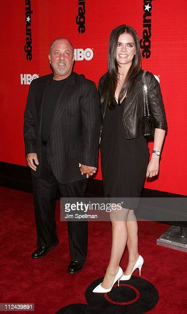 Billy Joel and wife Katie Lee Joel during 'Entourage' Season 4 Premiere Arrivals at Zeigfeld Theatre in New York City New York United States