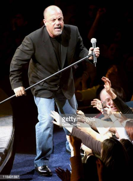 Billy Joel during Billy Joel in Concert at Madison Square Garden in New York City January 23 2006 at Madison Square Garden in New York City New York...