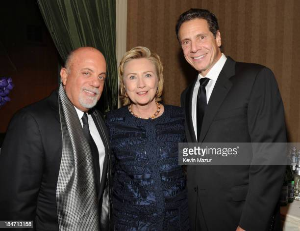 Billy Joel Hillary Rodham Clinton and Governor Andrew Cuomo attend the Elton John AIDS Foundation's 12th Annual An Enduring Vision Benefit at...