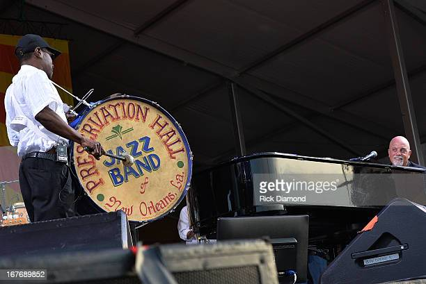 Billy Joel is joined by Preservation Hall Jazz Band of New Orleans and perform during the 2013 New Orleans Jazz Heritage Music Festival>> at Fair...