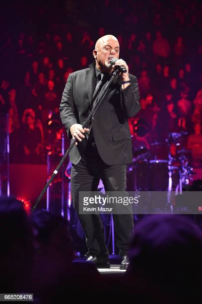 Billy Joel perfoms at the newly rennovated Nassau Coliseum Long Island on April 5 2017 in New York City
