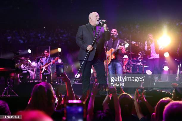 Billy Joel performs at Madison Square Garden on August 28 2019 in New York City
