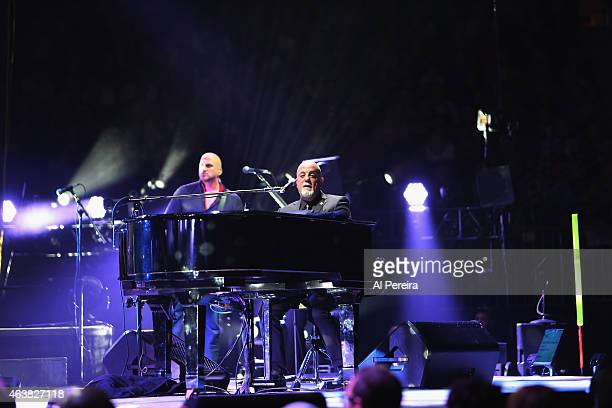 Billy Joel performs at Madison Square Garden on February 18 2015 in New York City