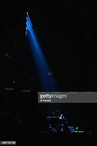 Billy Joel performs at Madison Square Garden on March 9 2015 in New York City