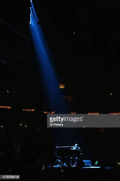 Billy Joel performs at Madison Square Garden on May 28 2015 in New York City