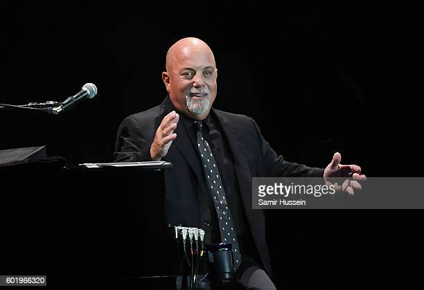 Billy Joel performs at Wembley Stadium on September 10 2016 in London England
