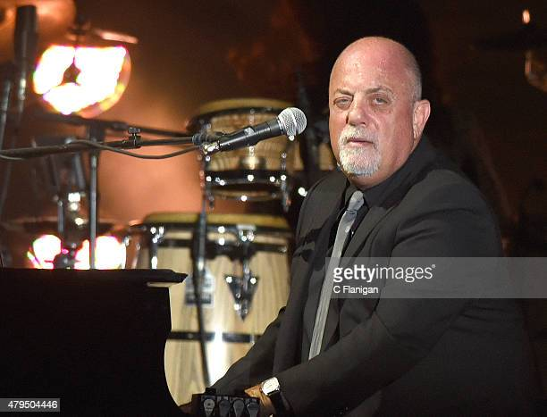 Billy Joel performs during the 2015 Bonnaroo Music Arts Festival on June 14 2015 in Manchester Tennessee