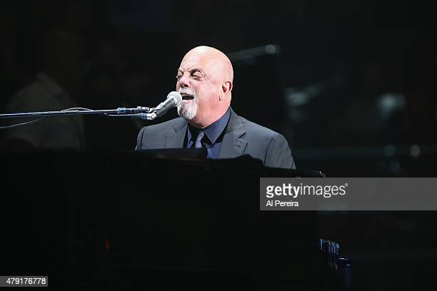 Billy Joel performs his recordsetting 65th concert at Madison Square Garden on July 1 2015 in New York City