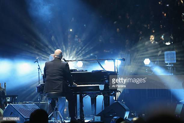 Billy Joel performs in concert at Madison Square Garden on January 9 2015 in New York City