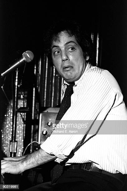 Billy Joel performs live on stage at the Bottom Line Club in New York in 1976