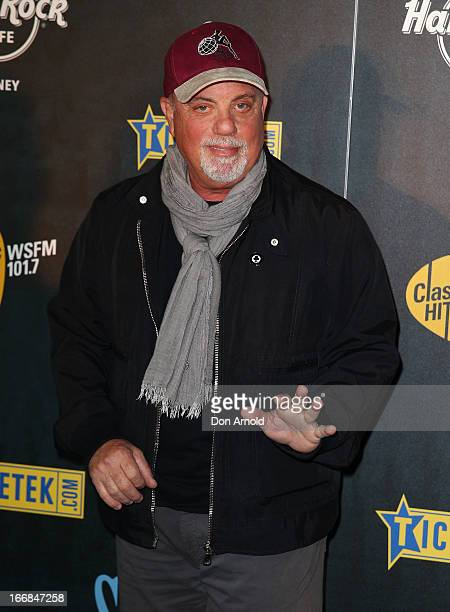 Billy Joel poses at the 2013 Stone Music Festival press conference on April 18 2013 in Sydney Australia