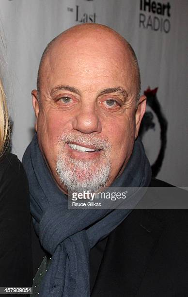 Billy Joel poses at The Opening Night of The Last Ship on Broadway at The Neil Simon Theatre on October 26 2014 in New York City