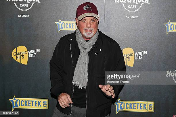 Billy Joel poses during the 2013 Stone Music Festival press conference on April 18 2013 in Sydney Australia