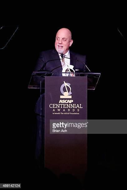 Billy Joel receives an award onstage at the ASCAP Centennial Awards at Waldorf Astoria Hotel on November 17 2014 in New York City