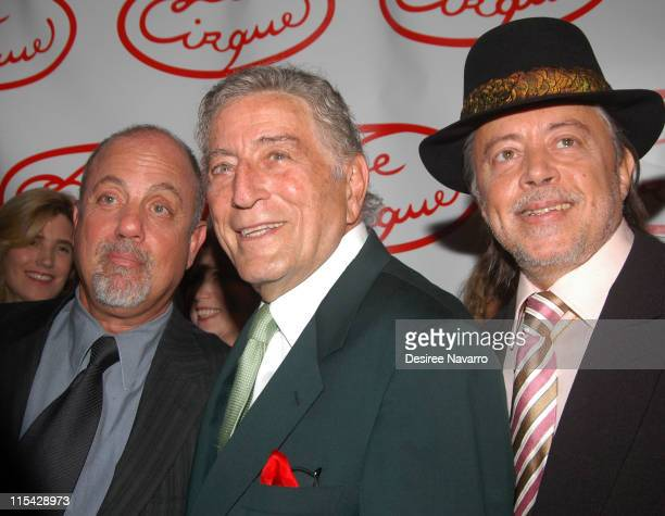 Billy Joel Tony Bennett and Chuck Mangione during Le Cirque Opening Party at One Beacon Court at One Beacon Court in New York City New York United...