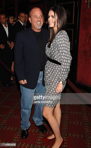 Billy Joel with his wife Katie Lee Joel during New York Premiere of 'The Departed' to Benefit the Film Foundation at Ziegfeld Theatre in New York...