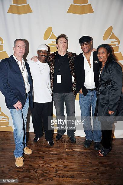 Billy Johnson Sunny Emery Carl Haasis Ike Stubberfield and Erin Baxter attend the 51st GRAMMY Awards Telecast Viewing Party Atlanta Chapter at Hard...