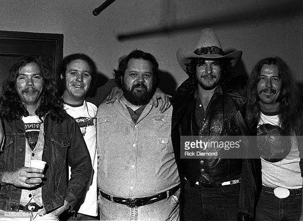 L/R Billy Jones and Hughie Thomasson The Outlaws Alex Cooley Concert/Southern Promotions Henry Paul and Monte Yoho The Outlaws during Charlie Daniels...