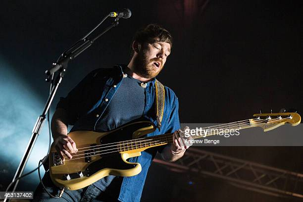 Billy Kennedy of Frightened Rabbit performs on stage at Kendal Calling Festival at Lowther Deer Park on August 3 2014 in Kendal United Kingdom