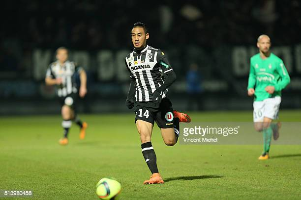 Billy Ketkeophomphone of Angers during the French Ligue 1 match between Angers SCO v AS SaintEtienne at Stade JeanBouin on March 5 2016 in Angers...