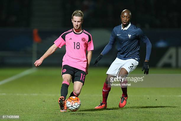 Billy King of Scotland during the Uefa U21 European Championship qualifier between France and Scotland at Stade Jean Bouin on March 24 2016 in Angers...