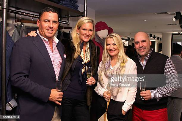 Billy Kreitsek Jr Lindsay Hess Jacqui Stafford Robert Lopez attends DuJour magazine's premier opening event Tincati Milano Concept Store on November...