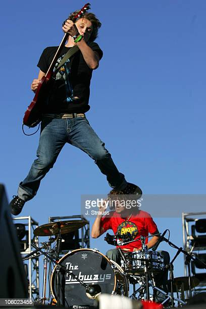 Billy Lunn and Josh Morgan of the Subways during 2006 San Diego Street Scene Day 2 at Qualcomm Stadium in San Diego California United States