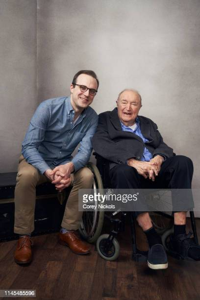Billy Lyons and Wynn Handman of the film 'It Takes A Lunatic' poses for a portrait during the 2019 Tribeca Film Festival at Spring Studio on April 25...