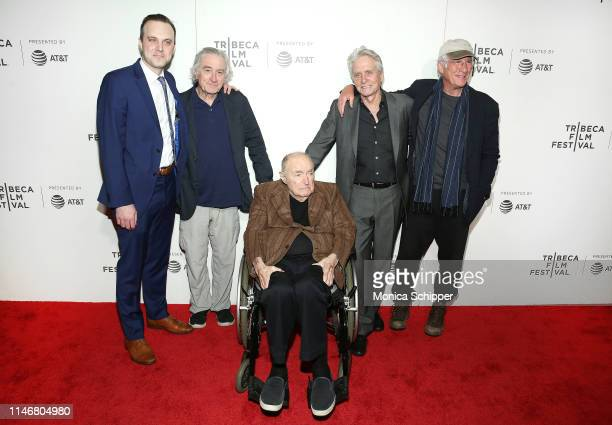 Billy Lyons Robert De Niro Wynn Handman Michael Douglas and Richard Gere attend the It Takes A Lunatic world premiere during the 2019 Tribeca Film...