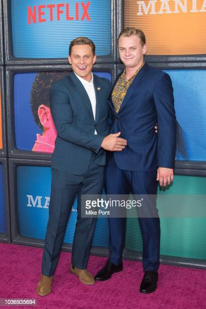 Billy Magnussen and Jesse Magnussen attend the 'Maniac' season 1 New York premiere at Center 415 on September 20 2018 in New York City